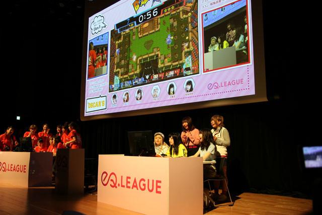 モニターにはプレイヤーたちも映され、真剣な姿やその一喜一憂する表情を見ることができる