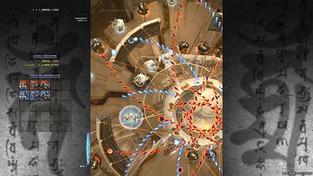 写真はプレステ4版。最難関の白黒の弾と敵が入り乱れるステージ4。