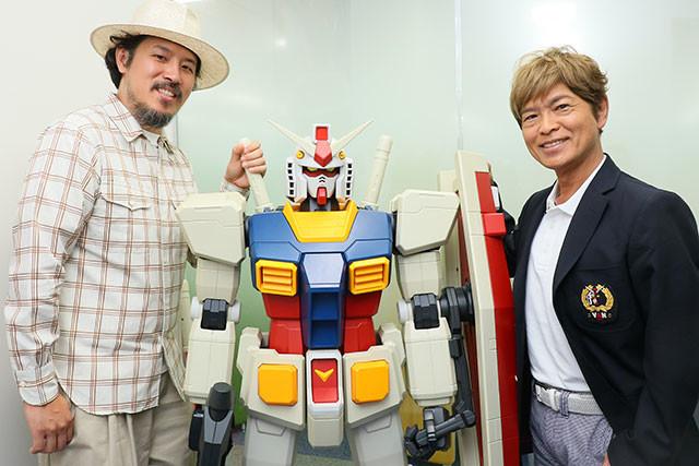 スキマスイッチ・常田真太郎さん(左)がアムロ役声優・古谷徹さんにガンダム愛をぶつける!