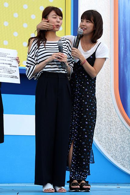 同期の宮澤アナと今も仲のいい久代萌美アナ(右)。1989年10月6日生まれ、東京都出身。首都大学東京都市教養学部卒業。2012年にフジテレビに入社。