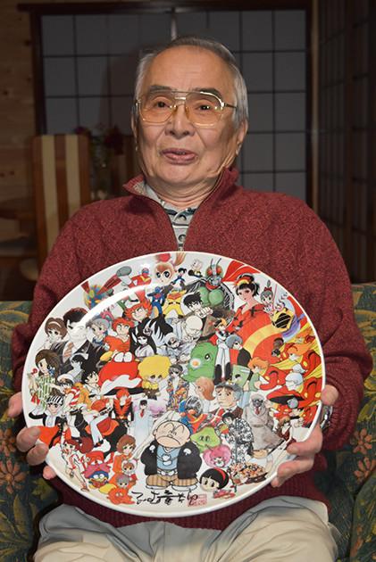 秋田英夫さんが2017年に撮影した吉川 進さんの写真。「仕事人間だった吉川さんは外での厳しさ、家での穏やかさが対照的。石ノ森先生と共に作り上げたキカイダー、ゴレンジャーへの思いも強かったようです」(秋田さん)