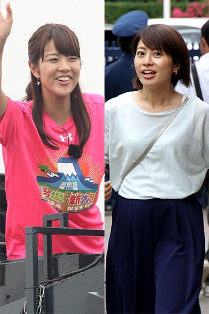 写真はフジテレビ・久代萌美アナ(左)と、テレビ朝日・久保田直子アナ(右)。共にバラエティ番組で活躍中で、ネットニュースを騒がせることも多い