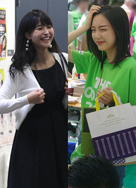 渡邊渚アナ(左)は1997年4月13日生まれ、愛知県出身。慶應義塾大学経済学部卒業。佐久間みなみアナ(右)は1997年11月18日生まれ、愛知県出身。上智大学国際教養学部卒業
