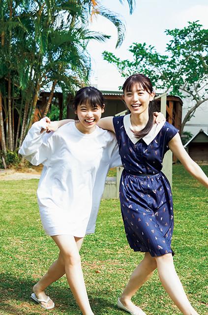 ニジマスの2トップ・来栖りん(左)と吉井美優(右)が週プレの表紙&巻頭グラビアに登場