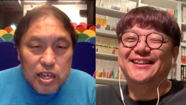 「アップリンク」代表、浅井隆氏(左)に角田陽一郎氏が聞く!