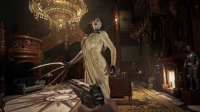 『ヴィレッジ』の予告や体験版でも強烈な印象を残した謎の美女・ドミトレスクは、なんと身長290㎝という巨大さ。その理由はぜひプレイして探ってほしい