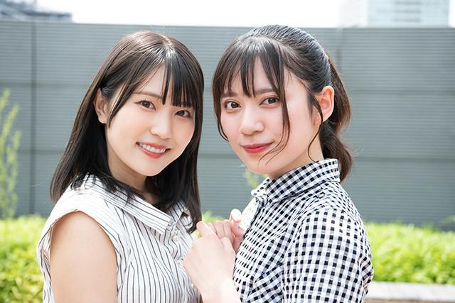 ダブルグランプリに輝いた広山楓(右)と坂東遥(左)