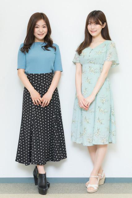 看護師としても最前線で活躍する西野咲さん(左)と桃里れあさん