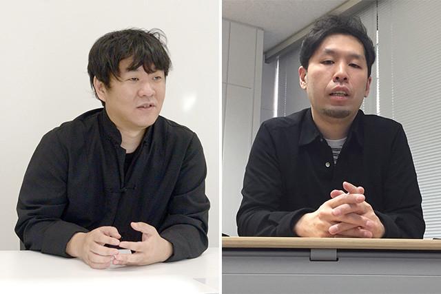 漫画家・押切蓮介氏(左)と『バイオハザード ヴィレッジ』のディレクターを務める佐藤盛正氏(右)