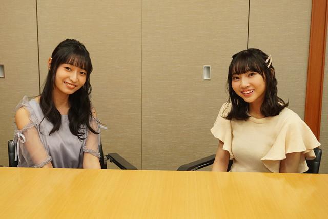 白河みずなさん(左)と矢野妃菜喜さんが『声優トモ写!』に登場!