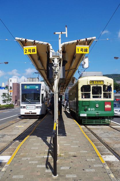 駅名の変更によって1系統と4系統の「正覚寺下」行きは「崇福寺」行きとなった