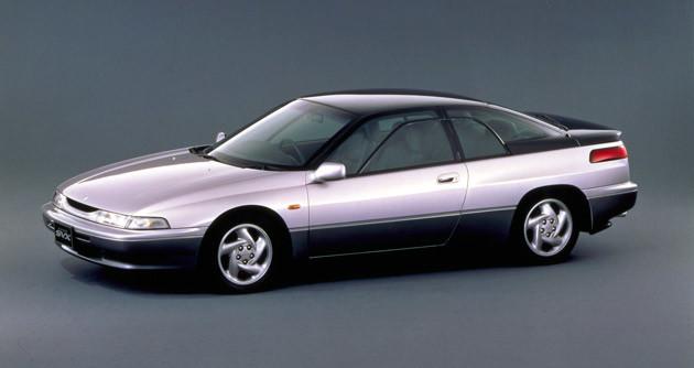 SUBARU アルシオーネSVX。デザインはジウジアーロ。1991年に登場した3.3リットルモデル