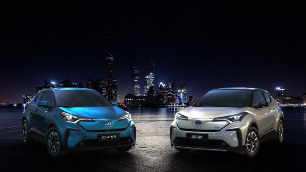 C−HR EV & イゾアEV。トヨタはC−HR EVと兄弟車のイゾアEVを初公開した。中国でC−HRは広汽トヨタ、イゾアは一汽トヨタから発売。違いは車名のみ
