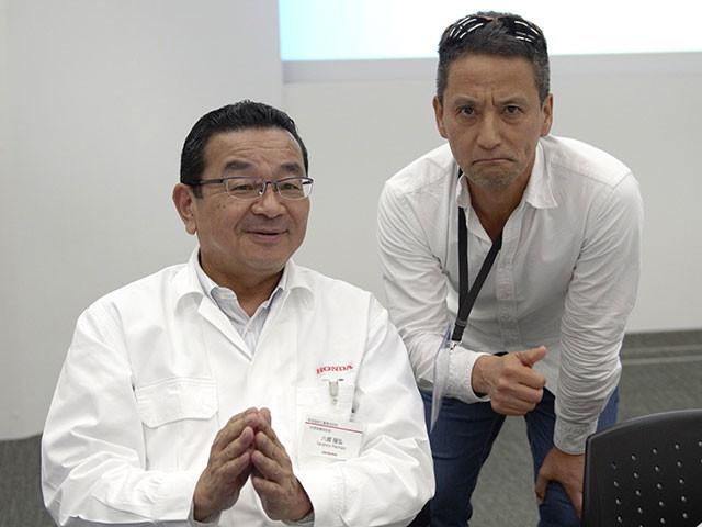ホンダ・八郷隆弘社長(左)を自動車ジャーナリスト・小沢コージがナマ直撃!
