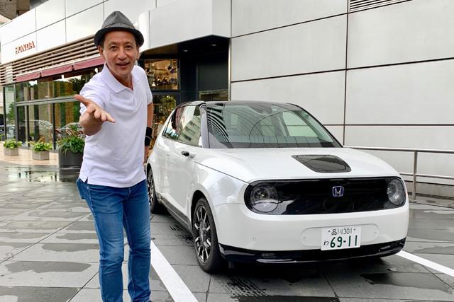 ついにニッポンご開帳となったホンダe。早速、オザワが東京・青山のホンダ本社に特攻。ホンダeと濃厚接触!