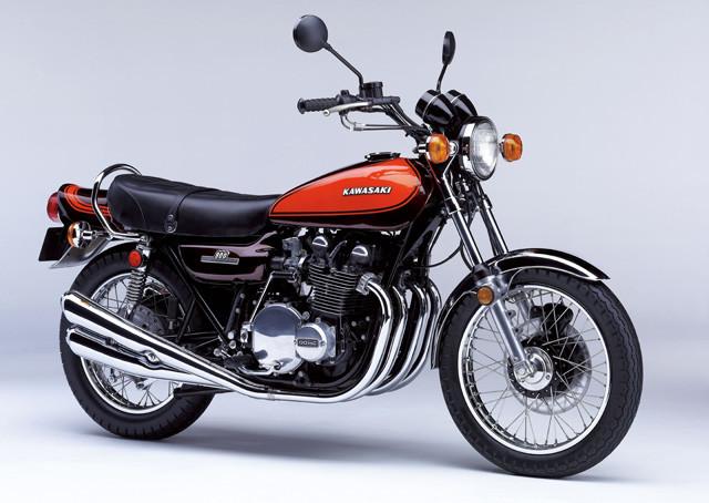 カワサキ「Z1」。1972年に川崎重工が海外市場向けに販売した輸出専用。自主規制のため日本では販売せず