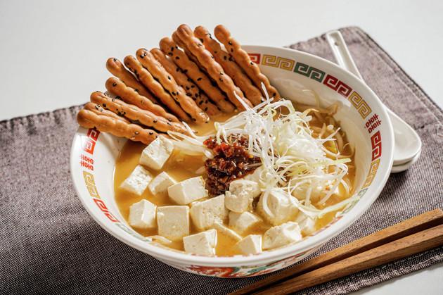 (4)完成!「麺なし担々麺」