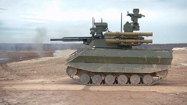 ロシアがシリア内戦に投入したといわれる無人戦闘車両「ウラン9-v5」。現状では遠隔操作タイプの無人兵器だが、いずれAI搭載の自律型に進化させる予定