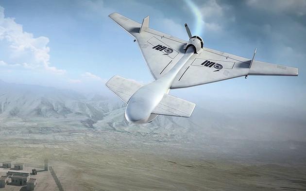 ナゴルノ・カラバフ紛争で実戦使用されたイスラエル製ドローン「ハーピー」。特定の空域を自律的に徘徊し、レーダー波を感知するとその発信源へ自動的に特攻する