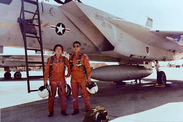 米軍F‐15を使った初期の訓練(重永雅氏提供)