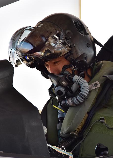 F‐35Aの最新鋭ヘルメット(写真提供/防衛省)