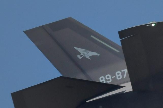 白く小さくなったが、302飛行隊のオジロワシは尾翼に描かれている