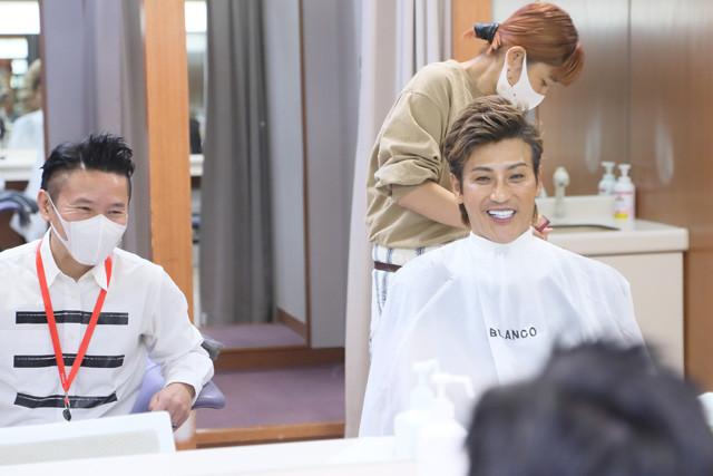 阪神タイガース時代から付き合いのあるインタビューマン山下(左)。新庄さんにはいつも「しげちゃん」と呼ばれている