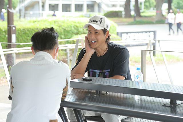 阪神タイガース時代から付き合いのあるインタビューマン山下。新庄さんにはいつも「しげちゃん」と呼ばれている