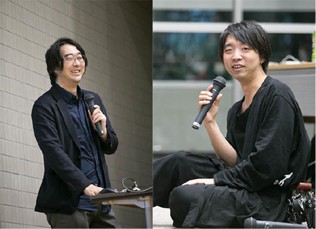 「現代の魔法使い」落合陽一(右)とCGクリエイターの北田能士