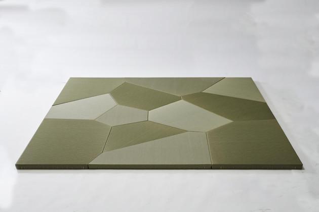 コンピューテーショナルデザインでパターンが生成される「ヴォロノイ畳」。3Dスキャナーを使ってどんな形の部屋にでもぴったり合う「世界でただひとつの畳」を作成できる