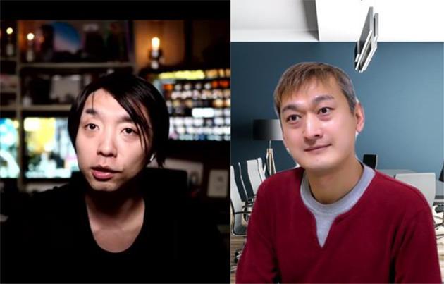 「ゲーム」というエンタメとテクノロジーの未来を語り合う落合陽一(左)と鈴木達也(右)