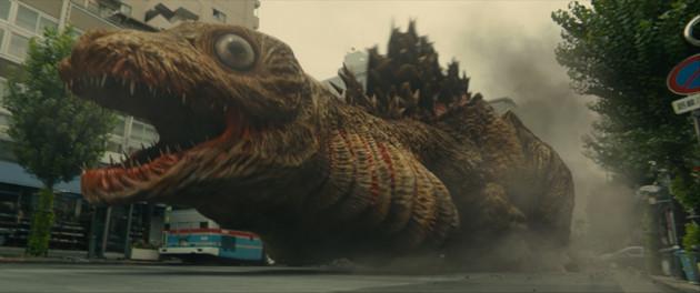 『シン・ゴジラ』公開時にその不気味さで大きな話題となった第2形態、通称・蒲田くん。街を破壊していく場面ではスマホ撮影による映像も差し込まれた。?TOHO CO.,LTD.