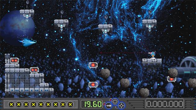 2020年11月にリリースされた、鈴木氏がディレクターを務めたゲーム『ステオス 雇われ砲撃手の悲哀』(Steam/PC)。人工知能軍同士の戦争に、なぜか雇われ助っ人として人間の砲撃手が参加するという設定の「横シューティングに見せかけた固定画面の激ムズアクションゲーム」。?2020 Gotcha Gotcha Games