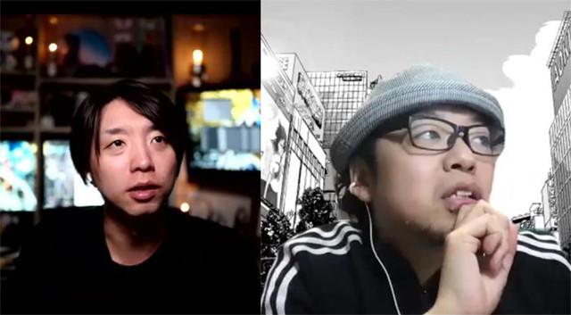 「漫画」という表現ジャンルの特殊性と未来について語り合う、落合陽一(左)と小沢高広(右)